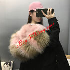 Women Real Fur Collar Lining Jacket Fashion Hooded Thick Coat Winter Cotton Down