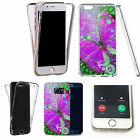 360° Silicone gel full body Case Cover for many mobile -heebie-jeebies butterfly