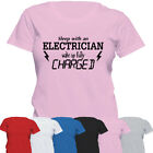 Electrician Funny Tshirt   Womens Tee Top   Couple Funny T shirt   Ladies Gift