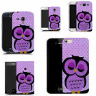 hard durable case cover for samsung & other mobile phones - purple sleepy owl