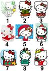 Hello Kitty Christmas Small or Large Sticky White Paper Stickers Labels NEW