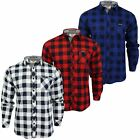 Mens Check Flannel Shirt by Tokyo Laundry 'Alhambra' Long Sleeved