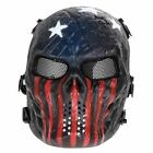 Skull Airsoft Party Mask Paintball Full Face Mask Army Games Mesh Eye Shield Mas