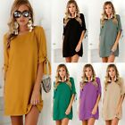 Summer Women Long Sleeve Bodycon Casual Party Evening Cocktail Short Mini Dress