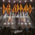 DEF LEPPARD AND THERE WILL BE A NEXT TIME LIVE FROM DETROIT CD X 2 + DVD NEW