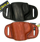 TAGUA OWB Quick Draw Belt Holster LEFT HAND DRAW in Black or Brown Leather