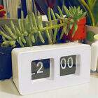 Creative Digital Retro Auto Flip Clock File Down Page Clocks Desk Wall Clock