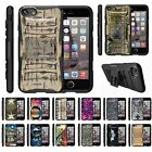 "For Apple iPhone 8 (4.7"") Rugged Hybrid Holster Belt Clip Case Armor Kickstand"