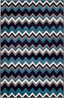 NEW AREA RUG (#65) NAVY CHEVRON RUG - APRX SIZES 2'X3' 2'X7' 4'X5' 5'X7' & 8'X11