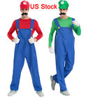 Men's Super Mario Costume Adult Cosplay Costume Mario Brothe