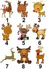 Reindeer Christmas Small or Large Sticky White Paper Stickers Labels New
