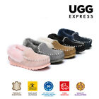 UGG AS*POPO Unisex Australian Sheepskin Moccasins Slippers,Double Sole,Non-Slip