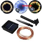 Solar Power LED Copper Wire String lamp 10M 20M Outdoor light Decoration Wedding