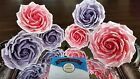 Handmade Ombre Ombré Sugar Roses Edible Cake Toppers Cake Decorations