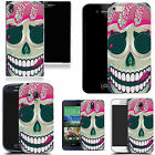 hard durable case cover for samsung & other mobile phones - pink licking skull