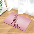 Butterfly High Heels on Pink Waterproof Polyester Fabric Shower Curtain & Hooks