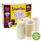 Coffee Filter Cup Paper Filters Packs 300pc For Ekobrew Solofill EZ-Cup My K-Cup