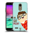HEAD CASE DESIGNS CERTIFIED PIZZAHOLIC SOFT GEL CASE FOR LG PHONES 1