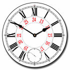 24 Hour LARGE WALL CLOCK  10- 48 Whisper Quiet Non-Ticking WOOD HANDMADE