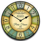 "1888 Paris World's Fair LARGE WALL CLOCK 2 10""- 48"" Quiet Non-Ticking WOOD"