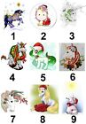 Unicorn Christmas Small or Large Sticky White Paper Stickers Labels NEW
