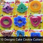 2 x BISCUIT COOKIE PASTRY CUTTERS ROUND HEART STAR FLOWER TREE CIRCLE REINDEER