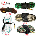 Hunting Bore Snake rifle Cleaning 22 Cal 223 5.56mm .17 .38 284 .308.40 .243 6mm