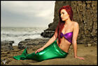 Mermaid Ariel Costume Mermaid Costume Purple Metallic Tube Top Little TOP ONLY