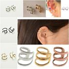 Ear Cuff Wrap Earrings No Piercing-Clip On Ear Clips Silver Gold or Bronze Tone