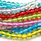 White Core Glass Beads 8mm Round - Over 15 colours - 50 beads per string