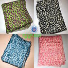 "ZooFleece Leopard Tiger Animal Print Linen 60X60"" Blanket Throw Quilt Christmas image"