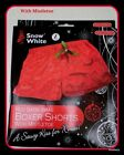 Mens Red Satin Style Xmas boxers (WITH MISTLETOE) M>LGE>X/L