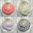 Chevron Infinity Scarf Womens Striped Lightweight Taupe Purple Coral Black Gray