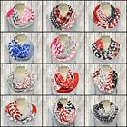 Infinity Scarf Valentines Day Gifts Chevron Plaid Knit Jersey Patchwork Pink Red