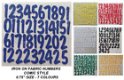 """ADVENT IRON ON DIE CUT FABRIC ( COMIC ) NUMBERS ! 1-25!! 0.75"""" Crafts/Christmas"""