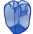 POP UP & FOLD AWAY NETTING NETTED LAUNDRY BOY HAMPER WITH HANDLE & POUCH