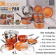 10 Piece Copper Induction Nonstick Set Chef Steamer Skillet Sauce Pan NEW IN BOX cheap