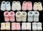 Baby booties knitted socks boy girl unisex