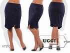 Beautiful Woman Skirt French knitted Knee Length Wear to work Casual- Plus size