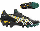 Asics Lethal Glory Rugby Boots Moulded Studs 4 hard ground Blk/Wht/Grn sizes 7-8