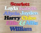 Personalised Names / Wooden Name Plaques / Bedroom Door Sign Letters #004 Cooper