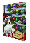 Happy Holidays Treeing Walker Coonhound Dog Tree and Pres...