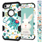 Elephant Patterned Hybrid PC TPU Armor Protector Case For Apple iPhone 6 6S Plus
