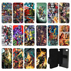 DC & Marvel comic book Flip cover case for Apple iPhone 4, 5, 5S, 5C, 6, 6S, 6 P