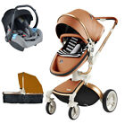 Baby Stroller Hot Mom 3 in 1 travel system Bassinet folding Pushchair & car seat
