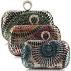 Elegant Sequin Ethnic Design Clutch Evening Handbag Party Bag