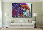 Trippy Colourful Hyper Beast Monster Large Poster Wall Art Print - A0 A1 A2 A3