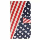 American Flag PU Leather Wallet Case Flip Cover Stand Card Slot for Phones