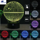 Star Wars Death Star 3D LED Night Light 7 Colour Touch Table Desk Art Lamp Gift $22.98 AUD