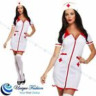 Ladies Sexy Nurse Uniform Hen Party Scrub Naughty Fancy Dress Costume Outfits